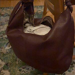 Smooth Leather Soft Knot Hobo Handbag